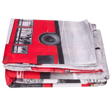 Nostalgic Big Ben and London Bridge Print 4-Piece Polyester Duvet Cover Sets