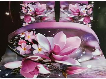 New Arrival Charming Magnolia Print 4-Piece Duvet Cover Sets