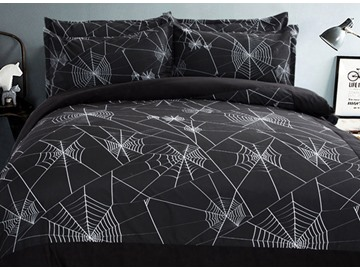 Unique Spider Web Design 4-Piece Duvet Cover Sets