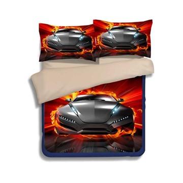 Sport Car 3D Printed Polyester Bedding Sets/Duvet Covers