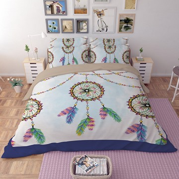 3D Mysterious Dream Catcher Printed Polyester 4-Piece Bedding Sets/Duvet Covers