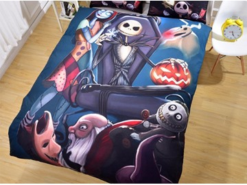 3D Nightmare Before Christmas Printing 3-Piece Bedding Sets/Duvet Covers