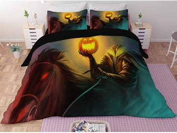 Headless Monster and Pumpkin Lantern Printing Halloween 3-Piece 3D Bedding Sets/Duvet Covers
