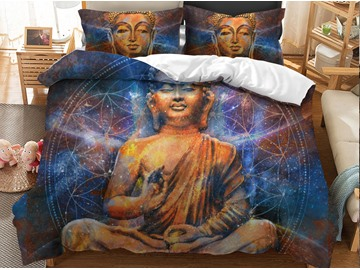Statue of Buddha Printed 3D 3-Piece Bedding Sets/Duvet Covers