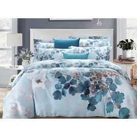 Leaves Oil Painting 4-Piece Tencel Duvet Cover Sets