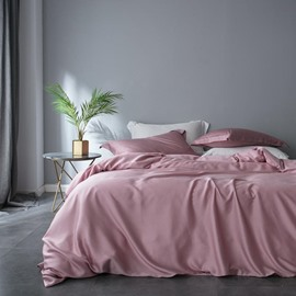 60s High Quality Pure Color Luxury And Healthy 4-Piece Tencel Bedding Sets/Duvet Cover