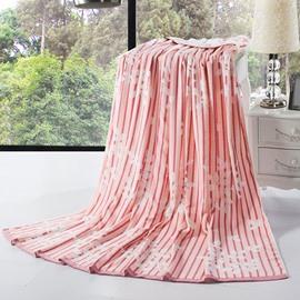 Super Soft Leaves Jacquard Cameo Brown Cotton Towel Quilt