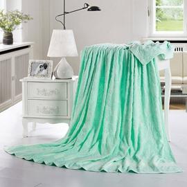 Noble Jade Green Jacquard Cotton Towel Quilt
