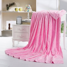 Romantic Sweet Pink Cotton Jacquard Towel Quilt