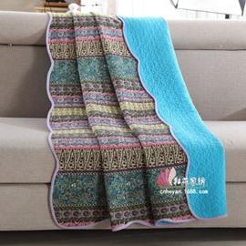 Elegant Boho Style Light Blue Summer Quilt