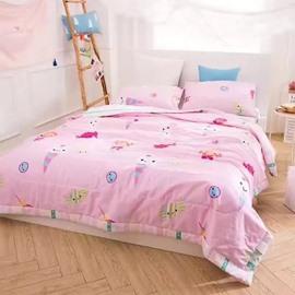 Sweet Candy Print Pink Lightweight Cotton Quilt