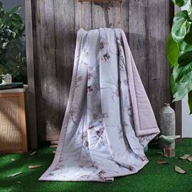 Peach Blossom Pastoral Style Tencel Lightweight Quilt