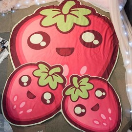 Red Strawberry-Shaped Lightweight Polyester Air-conditioner Quilt