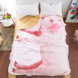 Pink Pig Shaped Cute 3D Washable Light Summer Quilt