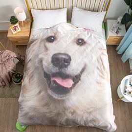 Golden Retriever Shaped 3D Washable Light Summer Quilt