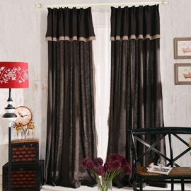 Top Class Elegant Coffee Grass Lawn Design  Double Pinch Pleat  Curtain