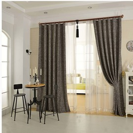 Elegant Concise Grey Double Pinch Pleat Curtain