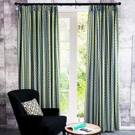 Fashion Pop Contrast Colored Geometric Custom Curtain