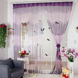 112-Inches Length Purple Gradient Color Custom String Curtain