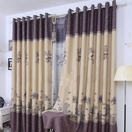 Grand Riverside Scene at Qingming Festival Grommet Top Custom Curtain