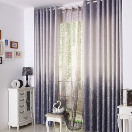 Top Quality Modern Eternal Tree Gray Custom Curtain