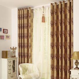 Best Selling Classic Modern Grommet Top Coffee Brown Custom Curtain