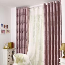 New Classic Modern Double Open Grommet Top Purple Custom Curtain