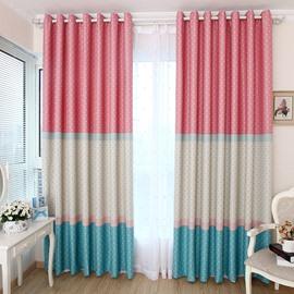 New Style Wonderful Cinderella Shading Grommet Top Two Piece Custom Curtain