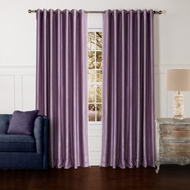 High Class Light Purple Pretty Granular Villus Custom Curtain