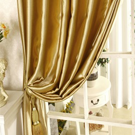 Blackout Luxury Solid Golden Grommet Top Curtain