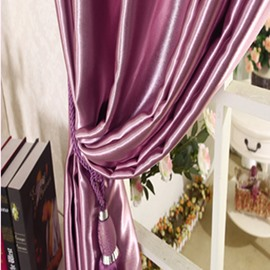 New Arrival High Class Luxury Purple Blackout Grommet Top Curtain