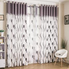 Trending Modern Design Half Shading Grommet Top Curtain