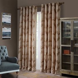 Wonderful Floral Pattern Grommet Top Curtain