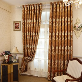 Classy Chenille Jacquard Grommet Curtain Panel