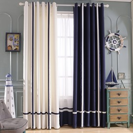 Mediterranean Style Double Colored Custom Curtain