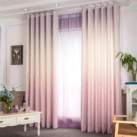 Romantic Purple Gradient Linen Cotton Custom Curtain