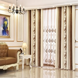 Grey Chenille Thermal Grommet Top Custom Curtain