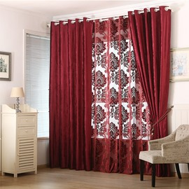 Blackout and Decoration Blending Jacquard Modern Damask Room Curtain