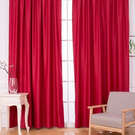 Blackout and Dust-Proof Polyester Concise Solid Colors Room Curtains