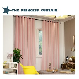 Decorative and Blackout Princess Style Solid Color Sheer and Lining Curtain Sets