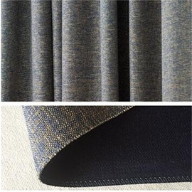 Thick Polyester 2 Panels Living Room and Bedroom Decorative and Blackout Curtain