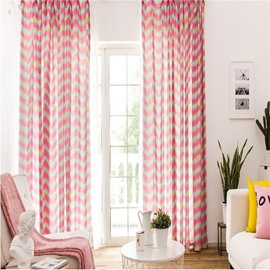Pink Red Color 2 Panels Decorative and Blackout Living Room and Bedroom Curtain
