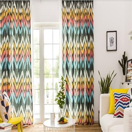 North European Modern Fashion Concise Style Polyester Study Room Decorative and Blackout Curtain