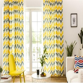 North European Modern Fashion Concise Style Polyester Living Room Decorative Curtain
