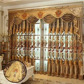 Decorative and Blackout High Quality Chenille Hollowed-out Luxury Living Room Curtain