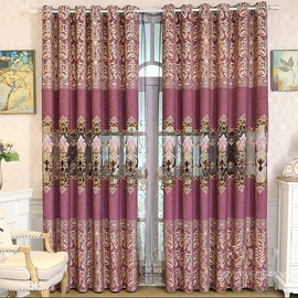 Elegant and Noble Purple Color 2 Panels Living Room and Bedroom Window Curtain