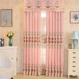 Romantic and Sweet Pink with Graceful Damask Pattern Living Room and Bedroom Curtain