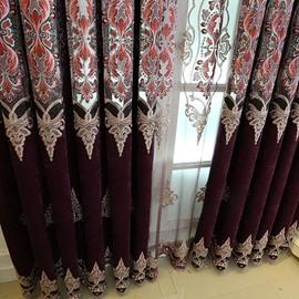 Royal Style Luxury Purple Blackout 2 Panels Grommet Top Curtains