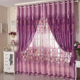 Europe Type Sitting Room Hand-made Embroider Curtain