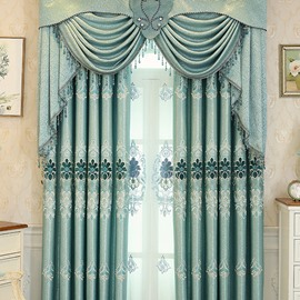 Elegant European Style High Quality Embroidered Sheer Curtain For Livin'room and Bedroom